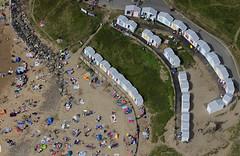 Beach huts on Bude beach in Cornwall - aerial image (John D F) Tags: beachhuts beach seaside bude cornwall aerial aerialimage aerialphotograph aerialimagesuk aerialview