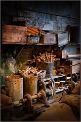 9. Masson Mills, Yorkshire DSCF1336 (janet.oxenham10) Tags: massonmills industrial urban yorkshire factory past bobbins threads