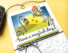 Have a Magical Day! (The Queen's Scene) Tags: card cardmaking stamping papercrafting lawnfawn lawnscapingchallenge fairies fairyfriends birthdaycard