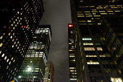 Midtown (matteococco) Tags: nyc midtown night notte skyscrapers grattacieli luci lights vertical diagonal clouds sky cielo nuvole windows life