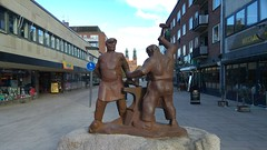 The Blacksmiths (Unmarriedswede) Tags: statue politicians place town center facebook group struggle story history blacksmiths weapon knifes metal products tractors eskilstuna sweden