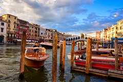 Venice's popular taxi!! (nishantdhumane) Tags: clouds cloudsstormssunsetssunrises sky boat water summer river canal color colorful life city