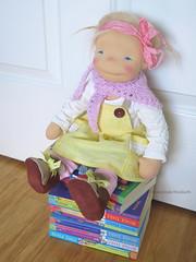 Eveline (DOWN UNDER WALDORFS) Tags: downunderwaldorfs handmadedoll naturaltoys popje puppen lalki boneca bambola waldorfinspireddoll waldorfdoll