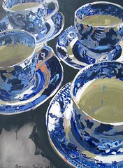 Blue and white tea c (seewhatyoumean) Tags: blue white tea cups48x36