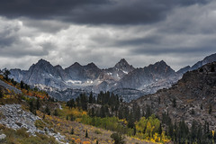 Fall Colors - Foreboding Skies (www.karltonhuberphotography.com) Tags: 2016 autumn buildingstorm california drama easternsierra fallcolors forest horizontalimage inspiring invigorating karltonhuber landscape landscapephotography light mountainpeaks nature outdoors peaceful rugged sierranevadamountains snowfields weather wildplaces wilderness