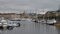 Down the centuries... (m_artijn) Tags: stockholm harbour harbor cloudy sky se ships boats historical magical