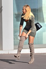 DSE_5523 (ze06) Tags: candid street cannes croisette sexy girl gorgeous glamour woman dress minidress heels boots blonde