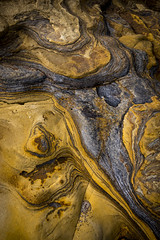 Rocky abstracts at Cornelian bay (Keartona) Tags: rock rocks abstract nature detail contours golden lines curves cornelianbay scarborough yorkshire coast beach england arty