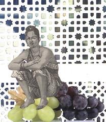 26th september - los dias contados (kurberry) Tags: losdiascontados collage cutpaste grapes stare analoguecollage calendar
