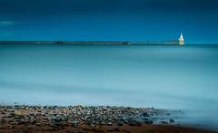pebbles on the beach (dave_harrison56) Tags: piers lighthouse sand sea pebbles longexposure blythbeach outdoors canon24105 canond70 leefilters bigstopper