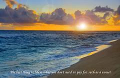 Hawaii sunset (quasuo) Tags: sunset beach bluered sea outdoor vacation quotation sand quasuo hawaii