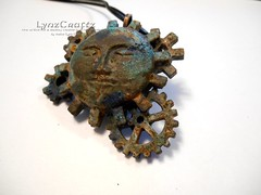Victoriana Moon (LynzCraftz) Tags: polymerclay resin swellegant steampunk handmade oneofakind jewelry necklace pendant