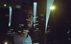 (felix.h) Tags: kodakretina2a kodakretinaiia 50mm analog analogue 35mm film portrait portraiture frankfurt frankfurtmain frankfurtammain frankfurtbahnhofsviertel bahnhofsviertel night city urban skyscrapers futurist metropolis doubleexposure doubleexpo