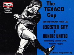 Leicester City vs Dundee United - 1973 - Cover Page (The Sky Strikers) Tags: leicester city dundee united the texaco cup filbert street official programme 10p