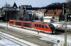 642 091  Immenstadt  03.02.04 (w. + h. brutzer) Tags: immenstadt eisenbahn eisenbahnen train trains deutschland germany triebwagen triebzug triebzge railway 642 vt db desiro webru analog nikon