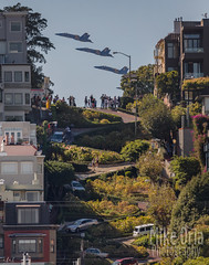 Angels Over Lombard (mikeSF_) Tags: sanfrancisco lombard crookedest fleetweek blueangels jet aircraft plane hornet navy usn russianhill airshow outdoor hill nobhill northbeach telegraphhill littleitaly