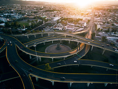 San Luis (eDamak) Tags: city sunset cityscape sanluispotosi mexico urban cars traffic drone aerial dji inspire1 flare photography edamak moirafilms