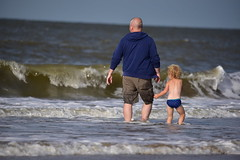 Our way of thinking creates good or bad outcomes. (Pics4life.nl off and on next week) Tags: sea beach father son waves water nature people netherlands blue colors nikon sigma strand golven vader zoon zee