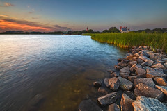 Historic Corolla Park (rdshanahan) Tags: lighthouse obx landscape pinkminutes goldenhour northcarolina whaleheadclub longexposure sound clouds corrola trees beach ocean beautiful nature pink magichour currituck waves bluehour sunset yellow firstinflight nc