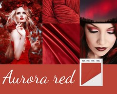 tendance-aurora-red-AH-2016 (creationsrc) Tags: tendance trend mode fashion pantone aurora red rouge aurore automne hiver fall winter 2016 2017 tissu laine velour maquillage makeup