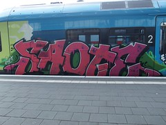 SAOTE (mkorsakov) Tags: münster hbf bahnhof graffiti train zug bunt colored rb66 westfalenbahn es58 saote rot red