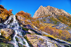 Autumn in the mountains III (Usstan) Tags: mountainside autumn d750 landscape serene mreogromsdal mountains outdoor seasons standalseidet stream colors clear trees locations sunnmre mountainpeak waterfall creek norge rsta water sky nikon norway shadows cliff mountain mreogromsdal sunnmre rsta no
