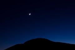 Hawk Hill (adcristal) Tags: sanfrancisco sanfran sf goldengate strait bay marin county nikond7000 california goldengatenationalrecreationarea nikon18200mmf3556g hawk hill hawkhill moon night crescent dusk sunset