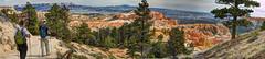 Hikers Panorama (JoelDeluxe) Tags: bryce national monument park hoodoos redrocks views trails queens trail navajo loop ut hdr joeldeluxe