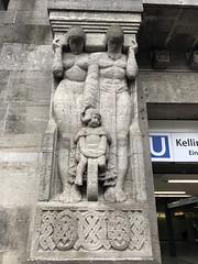 Stone sculpture from 1911 by Johann Michael Bossard at the entrance of the Hamburg U-Bahn station Kellinghusenstrae. (arwed.kubisch1) Tags: hamburg hanseatic hansestadt johann michael bossard kellinghusenstrase kellinghusenstrasse ubahn metro subway sculpture bildhauerei stone stein neoclassicism neoklassizismus eclectic eclecticism eklektizismus eklektizistisch