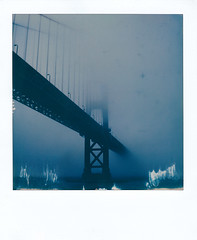 The Golden Gate Bridge 1 (michaelbehlen) Tags: polaroid polaroids insant instantfilm san francisco golden gate bridge fog nature landscape impossiblefilm impossibleproject packfilm slr680 sx70 urban city