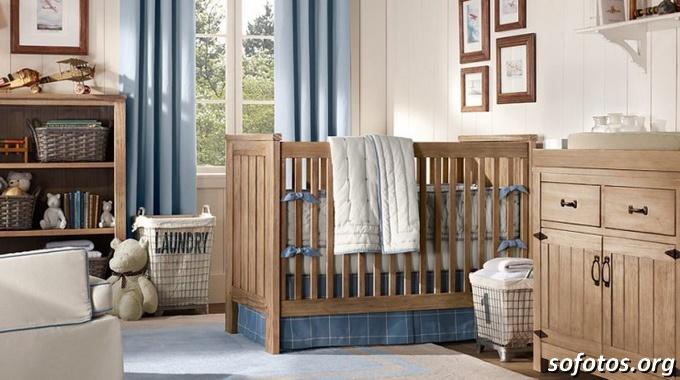 quarto de bebê rustico
