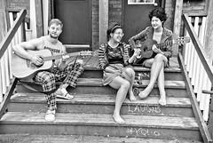 Not What It Looks Like - Ottawa 04 13 (Mikey G Ottawa) Tags: street city girls people bw woman ontario canada man guy youth person guitar ottawa porch gladstoneave mikeygottawa
