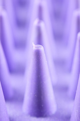 stand at attention [25:52] (rsj211) Tags: abstract macro purple cone repetition conical lightroom d90 flickrfriday 52weeks zoomgroom 52weekproject reversemountlensadapter
