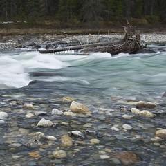 Snow melt (Paul Perton) Tags: canada rock river landscape banff rapid snowmelt kootenaynationalpark rockflour manuallensnocpu