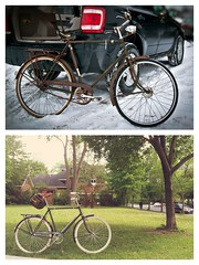 before & after .... finally it's done (almost, missing the right grips) and it's fun to ride on the road! (W.....) Tags: road project ride raleigh b17 365 saddle brooks schwalbe superbe deltacruiser flickrandroidapp:filter=none