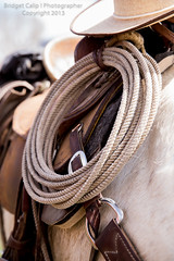 Hemp Lasso Hanging on a Saddled Horse With Cowboy Hat (Bridget Calip - Alluring Images) Tags: ranch old sunlight white west dusty hat speed vintage honda cord cowboy soft loop rope line yarn american western end rodeo americana weathered aged lariat burner diffused saddle authentic noose cowboyhats hemp ranching rawhide atop roping lasso hondo riata 2013 bridgetcalip