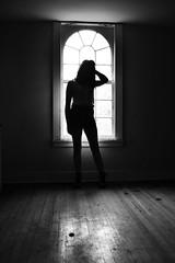 Silhouette (Victor Wei.) Tags: windows light blackandwhite abandoned film beauty farmhouse peeling rooms doors shadows darkness floor urbandecay silhouettes landmark historic mansion ornate gigantic railings detailed filmlike