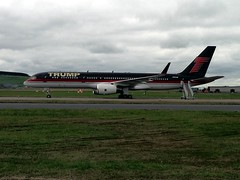 Trump in town (dav.munro) Tags: hello nyc red black june plane golf private airplane gold scotland airport tour aberdeenshire rich jet rollsroyce visit jfk international million greetings boeing donaldtrump trump today tee pilot apprentice 757 727 abz 2013 aberdeenairport visitscotland