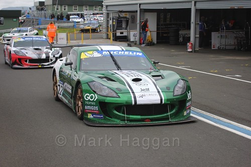 Ben Green in the Ginetta GT4 Supercup at the BTCC Knockhill Weekend 2016