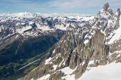 View from Pointe Helbronner (Lyall Bouchard) Tags: italy montblanc panoramic pointehelbronner aiguilledumidi france