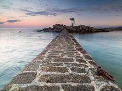 Phare du  Trevignon (Howard Brown) Tags: trvignon brittany bretagne breizh morbian finistre lighthouse phare bayofbiscay atlantic seascape seaside leadinglines pier