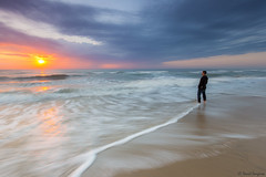 Ephemeral Moments III. [Explored & FP 07-28-2016] (dasanes77) Tags: canoneos6d canonef1635mmf4lisusm tripod landscape seascape cloudscape longexposure dawn sunrise beach valencia lagarroferabeach albuferaofvalencia selfportrait