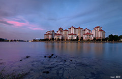 Tg Rhu Condo (Ken Goh thanks for 2 Million views) Tags: tg rhu condo architecture blue sky cloud smooth water reflection lighting bluehour night photography longexposure landscape colors wideangle pentax k1 simga 1020