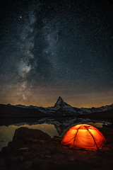 Million Stars Hotel (Achim Thomae) Tags: thomae milkyway landscape landschaft schweiz hillebergtents zermatt matterhorn milchstrasse achimthomae 2016 stellisee sommer nightshot