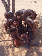 Children Amazed by iPad, Otjikandero Himba Village, Kunene, Namibia (dannymfoster) Tags: africa namibia otjikandero himbavillage otjikanderohimbavillage people africanpeople himba children himbachildren