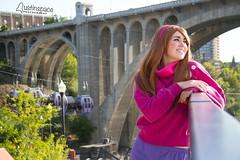 Anna (austinspace) Tags: woman portrait spokane washington model cosplay anime convention redhead wig park riverfront