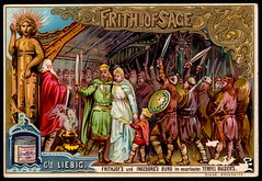 Liebig Tradecard S407 - The Legend of Frithjof 6 (cigcardpix) Tags: tradecards advertising ephemera vintage liebig chromo