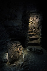 the tower inside - lightpainting (Ralph Oechsle) Tags: lightpainting malenmitlicht paintwithlight paintingwithlight tower staircase stone medieval turm mittelalter fantasy mystic
