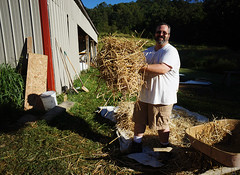 mix master bill - light clay straw (The Year of Mud) Tags: theyearofmud naturalbuilding cob clayplaster lightclaystraw berea kentucky southslopefarm