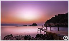 Corfu to Albania (kevinslyfield) Tags: corfu agiosspiridon sunrise island jetty marebluebeachresort ndfilter 10stopper